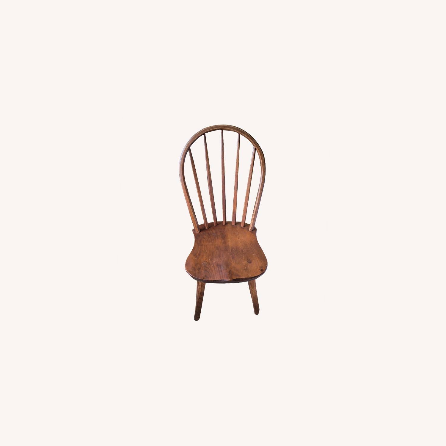 Curved Hunt Furniture Wood Chairs - image-0