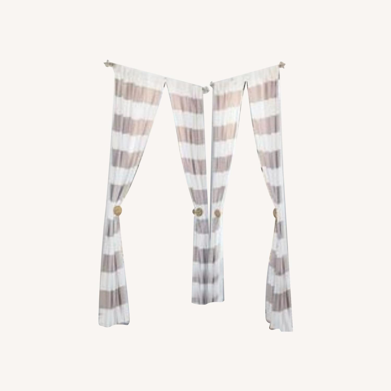 Pottery Barn Classic Striped Drapes - image-0