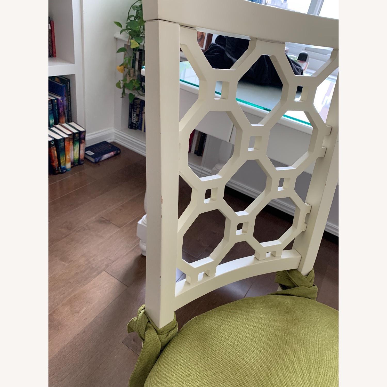 Off White Wood Chair w/Cushion - image-7