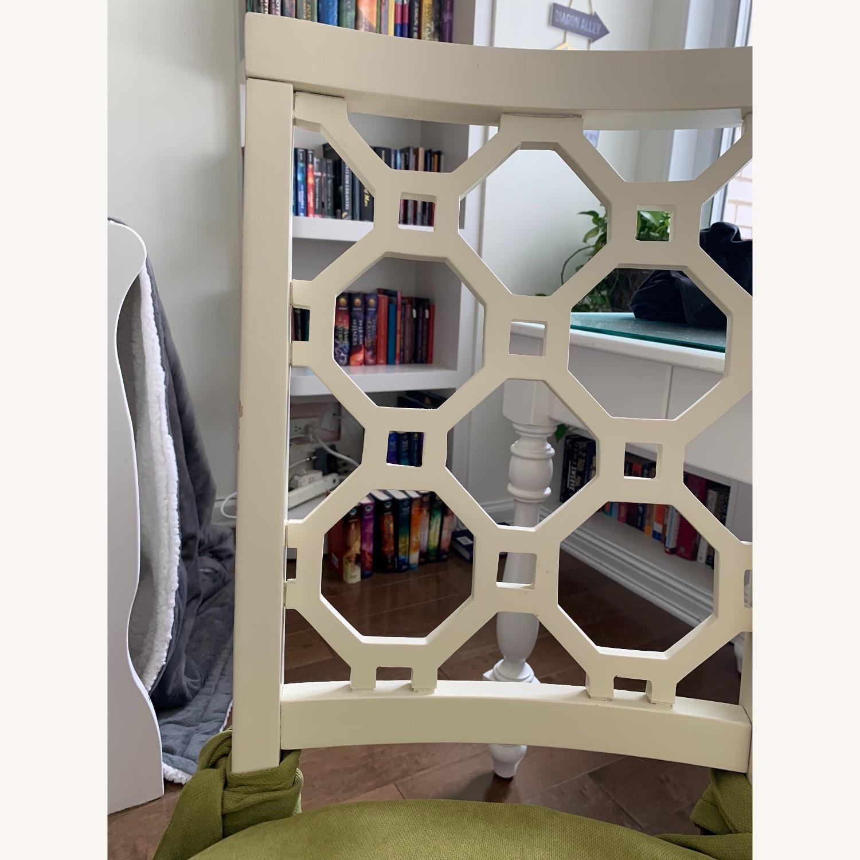 Off White Wood Chair w/Cushion - image-5