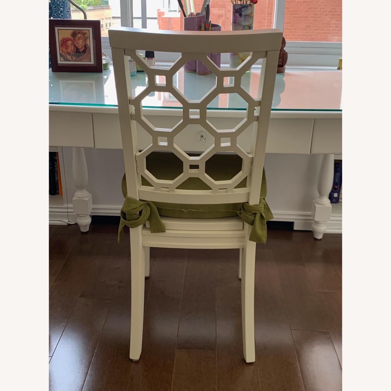 Off White Wood Chair w/Cushion - image-2