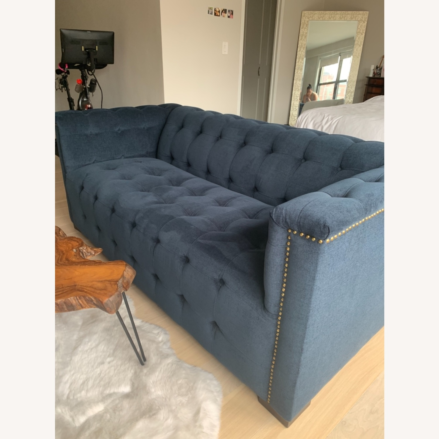 Raymour Flanigan Navy Tufted Loveseat - image-6