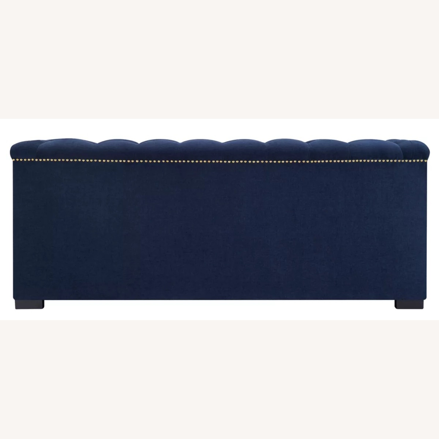 Raymour Flanigan Navy Tufted Loveseat - image-8
