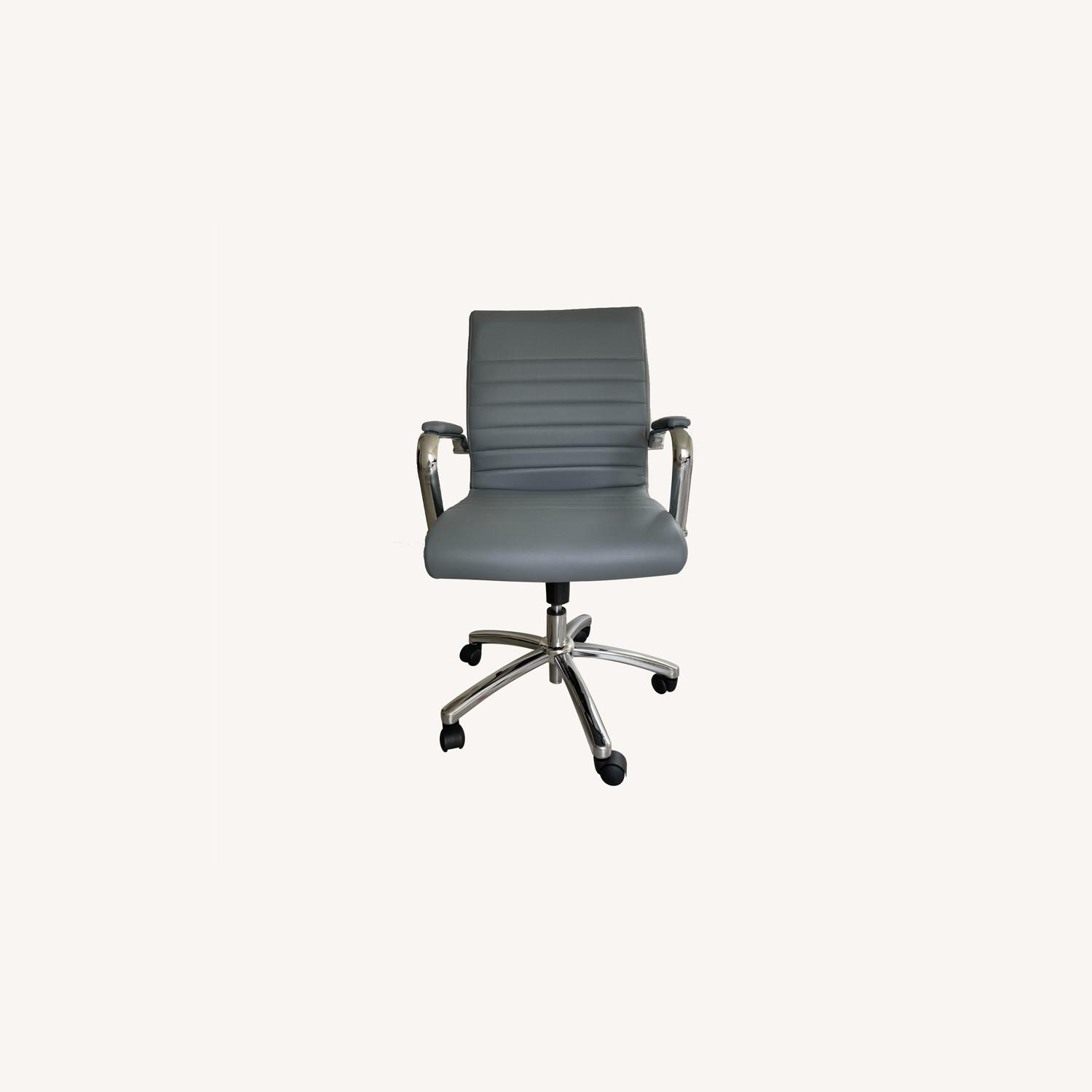 Office Depot Realspace Modern Chair Grey/Chrome - image-0