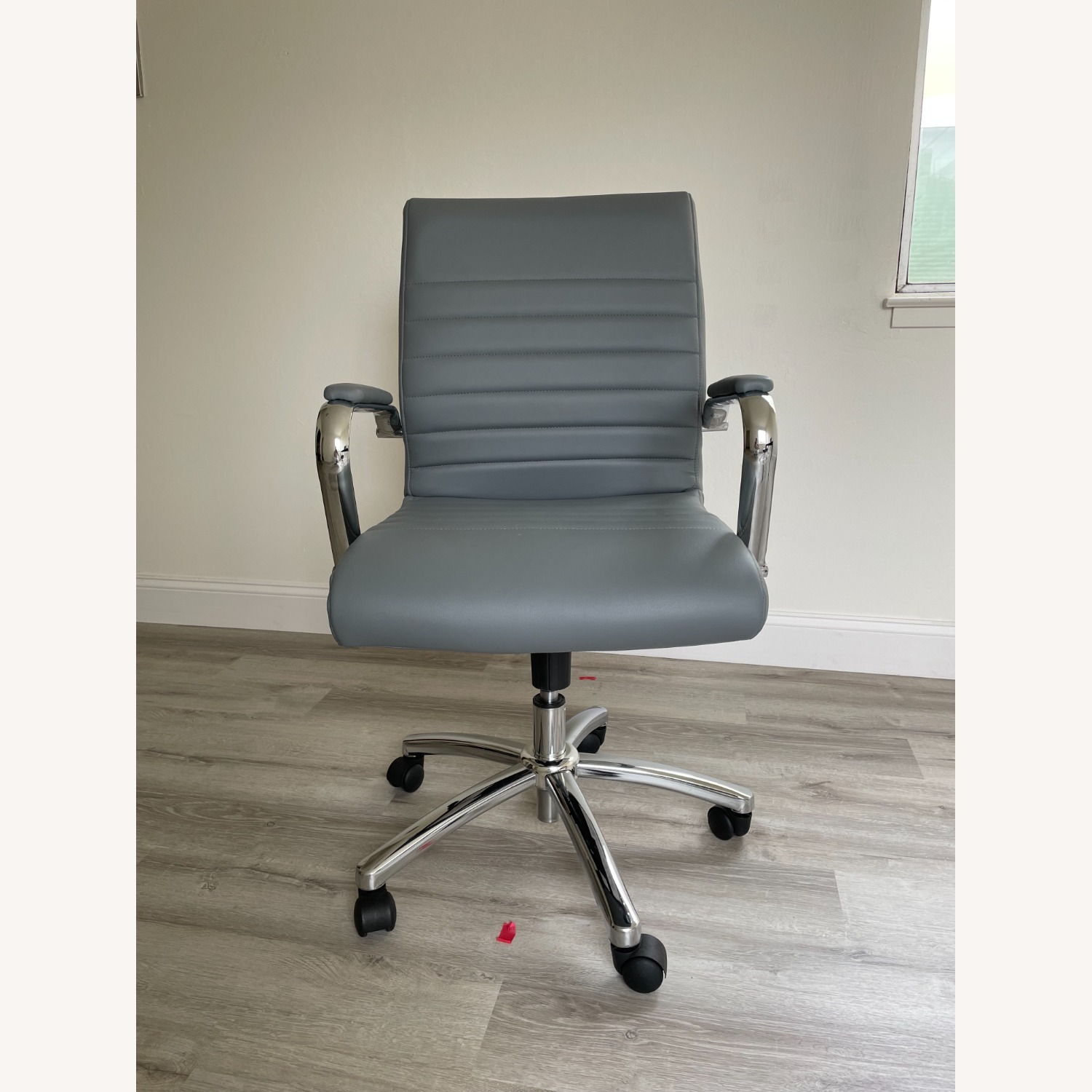 Office Depot Realspace Modern Chair Grey/Chrome - image-1
