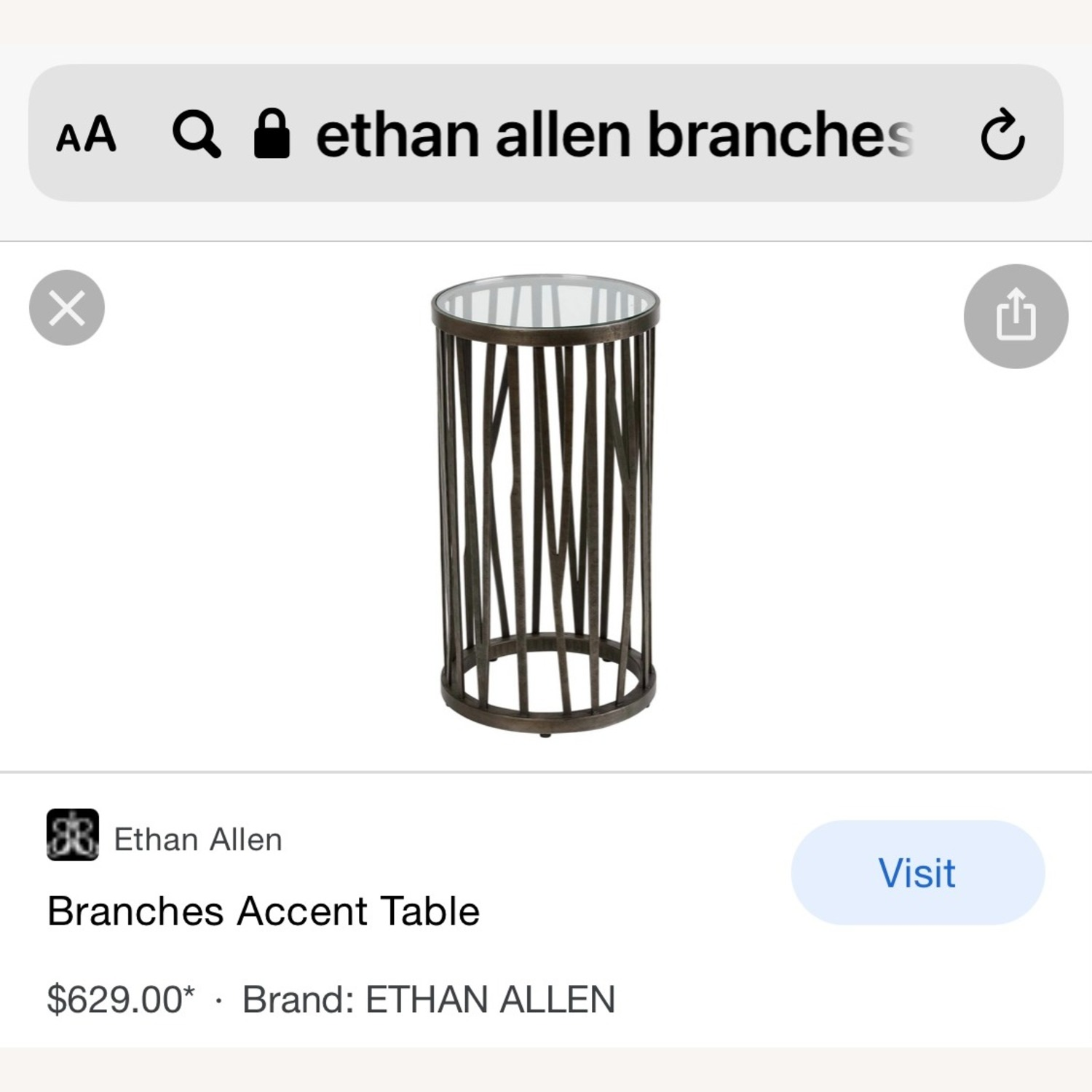 Ethan Allen Accent Table - image-5