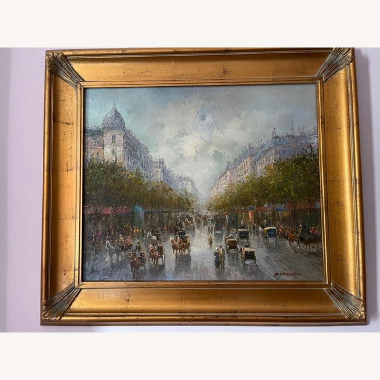 Oil Painting Vintage City Scene - image-2