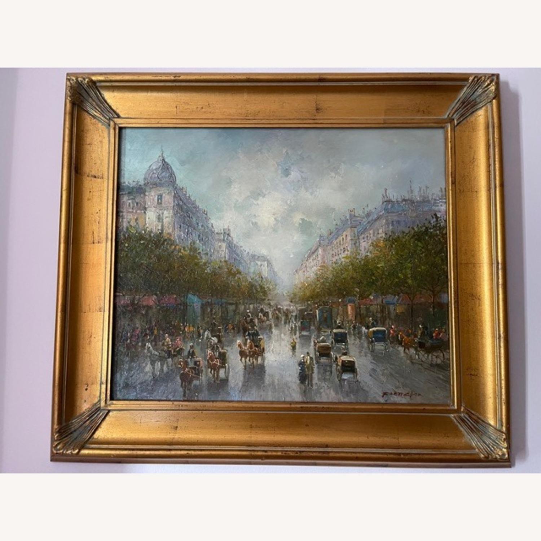 Oil Painting Vintage City Scene - image-1