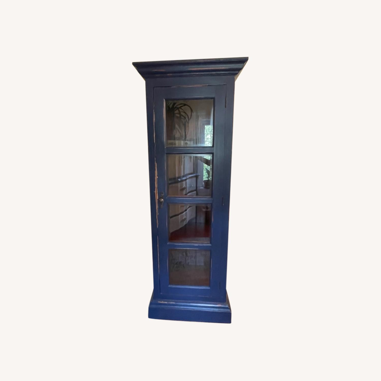 Mahogany & Glass Platypus Home Cabinet - image-0
