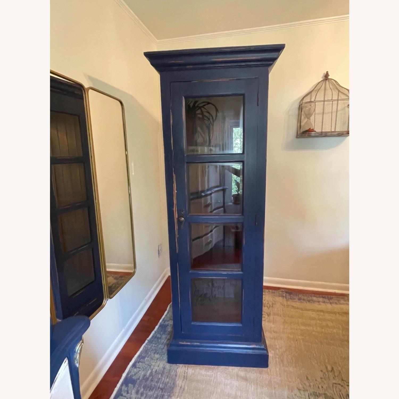 Mahogany & Glass Platypus Home Cabinet - image-1