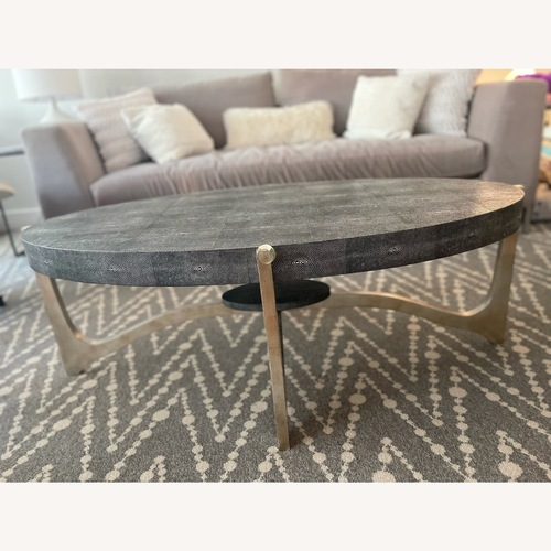 Used Made Goods Oval Dexter Coffee Table for sale on AptDeco