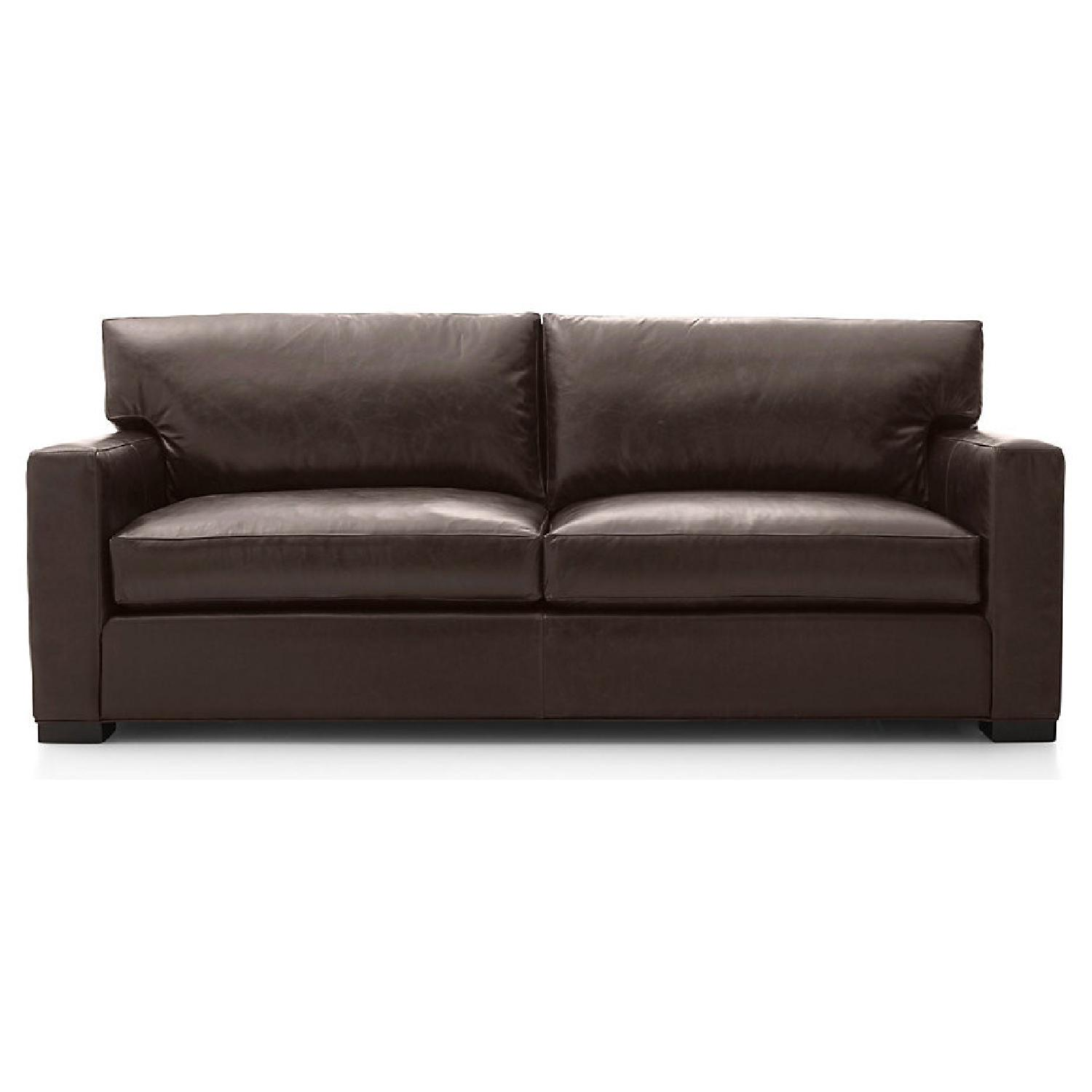 Crate and Barrel Axis Leather 2-Seat Sofa - image-5