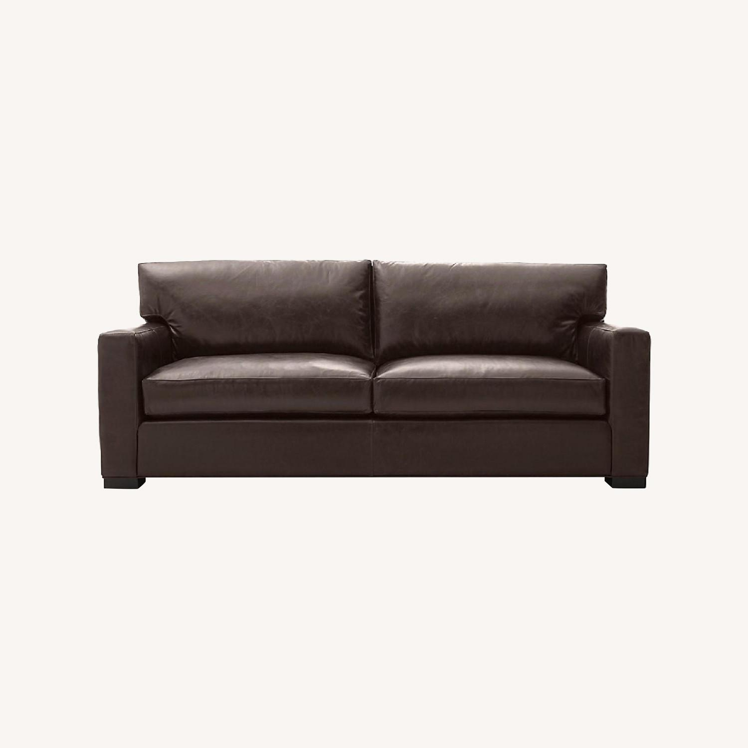 Crate and Barrel Axis Leather 2-Seat Sofa - image-0