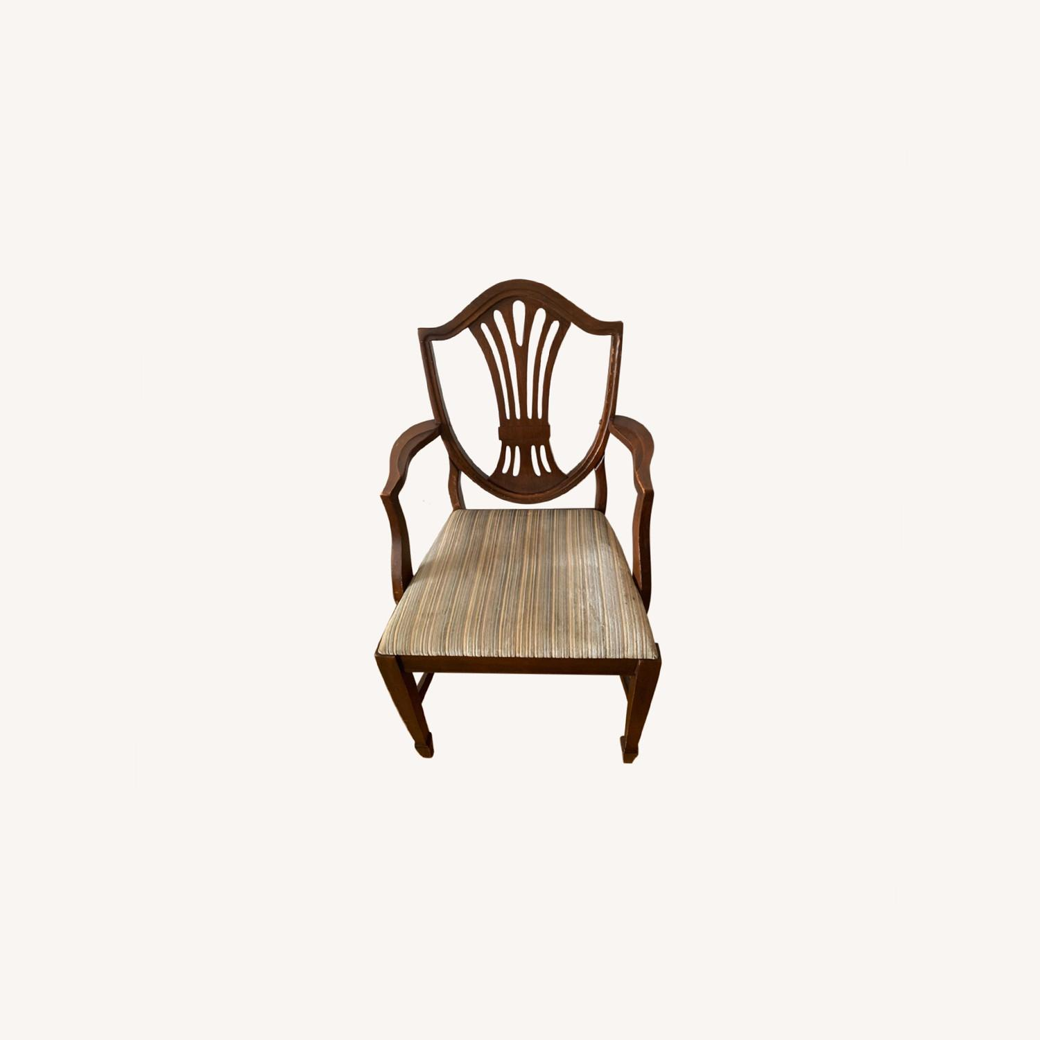Antique Mahogany Dining Side Chairs - image-0