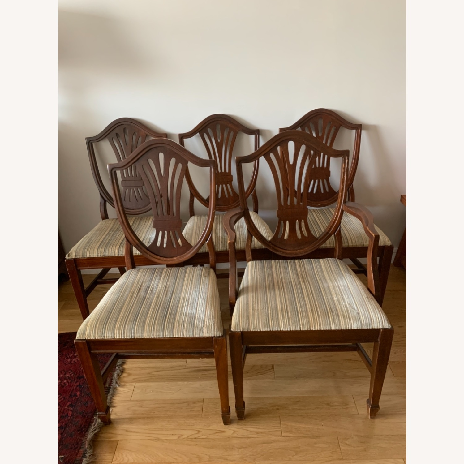 Antique Mahogany Dining Side Chairs - image-2