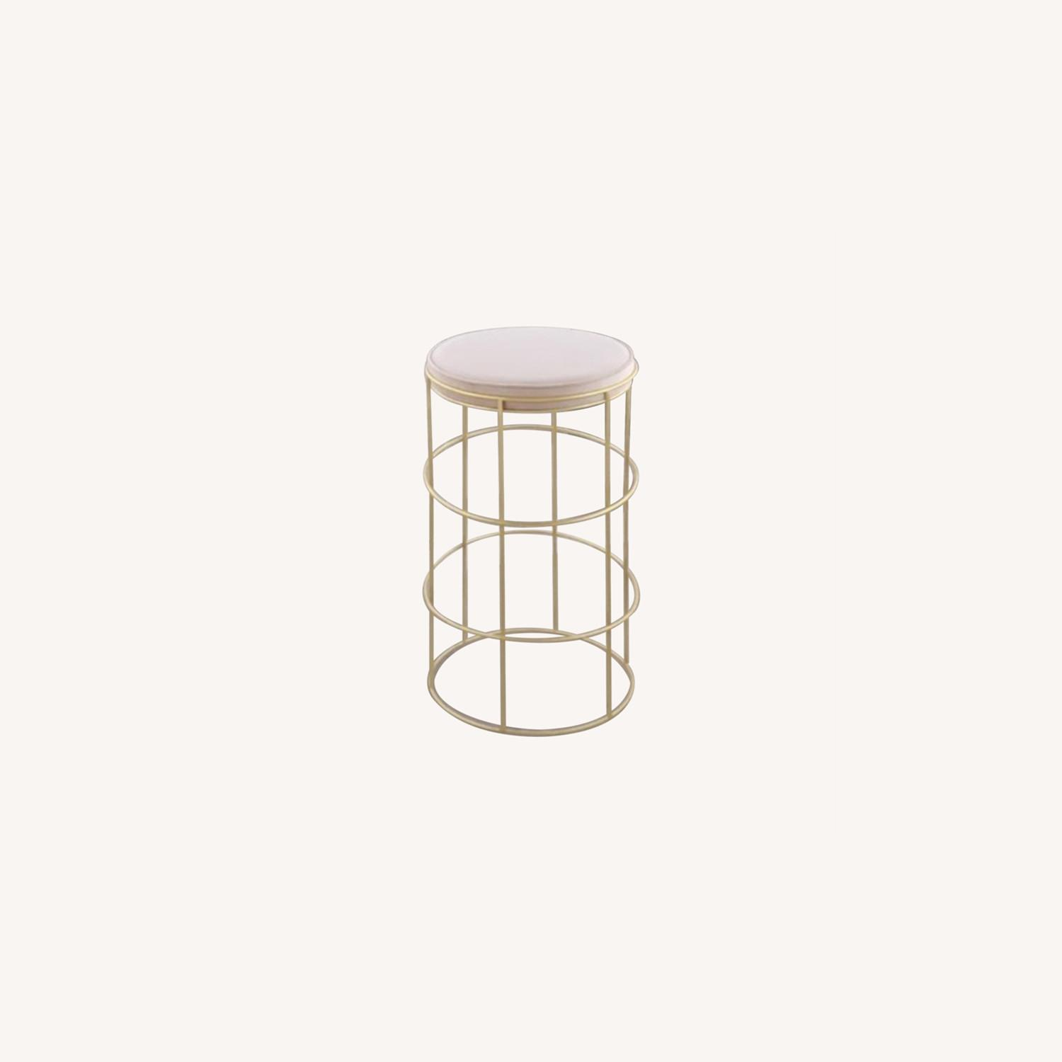 Pink & Gold Counter Stool - image-0