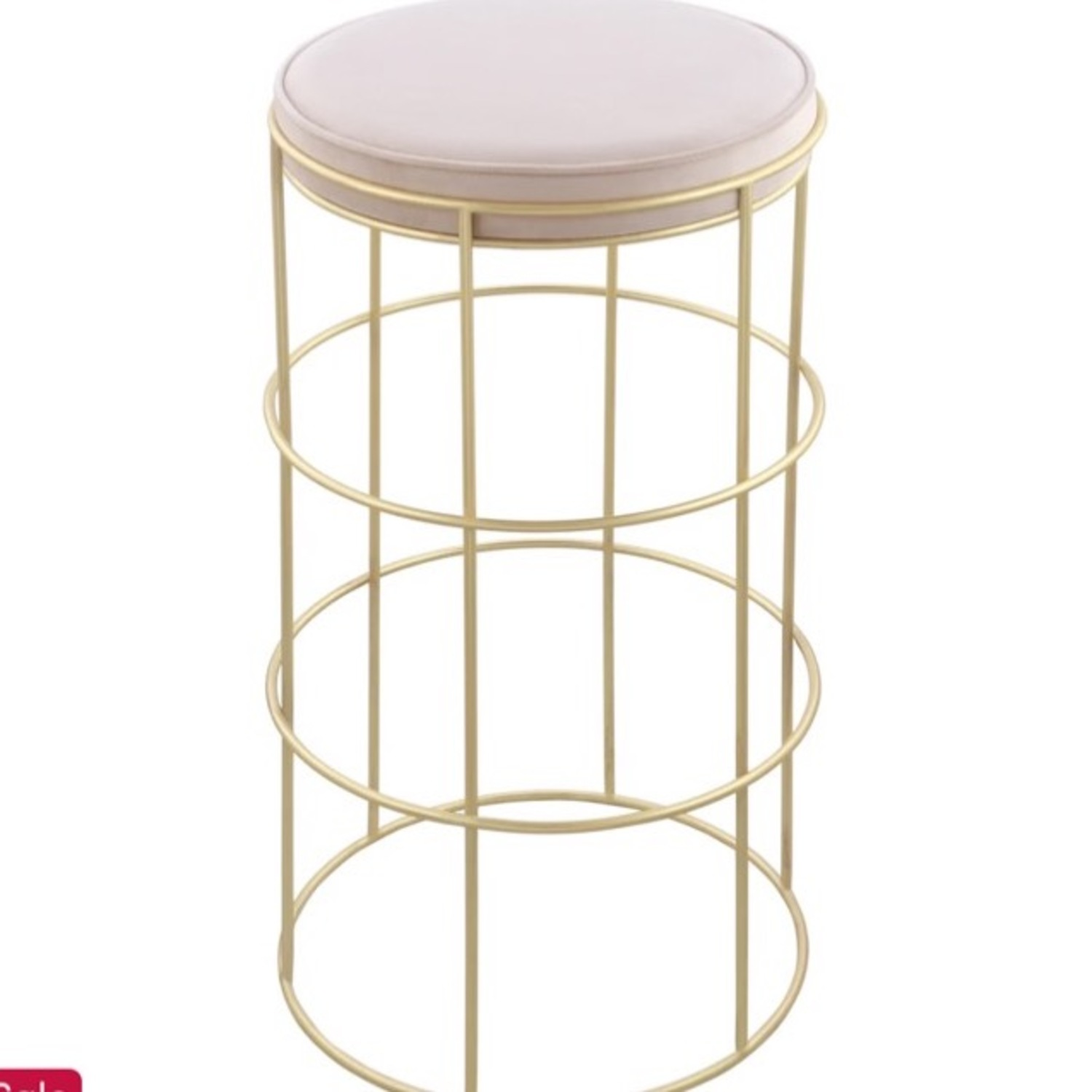 Pink & Gold Counter Stool - image-3
