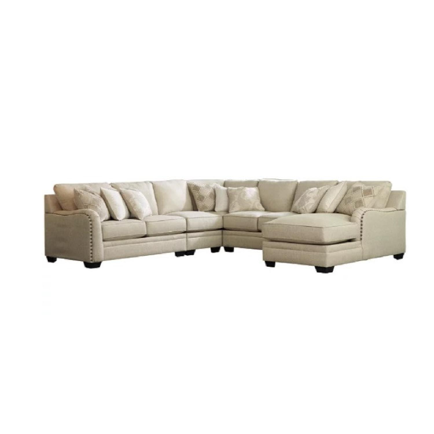 Ashley Furniture 5-pc Sectional with Chaise - image-9