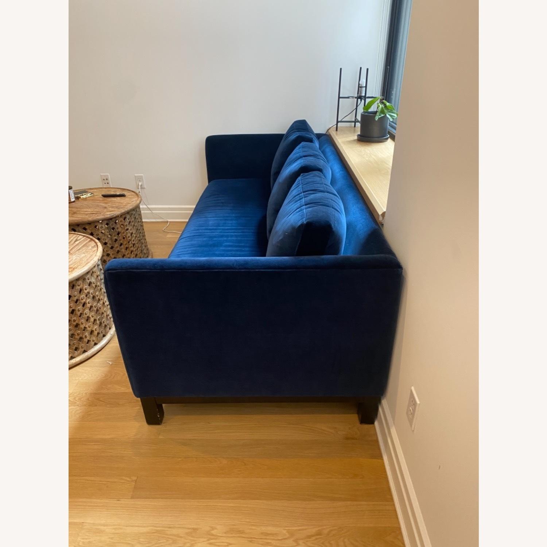 ABC Carpet and Home Blue Velvet Sofa - image-3