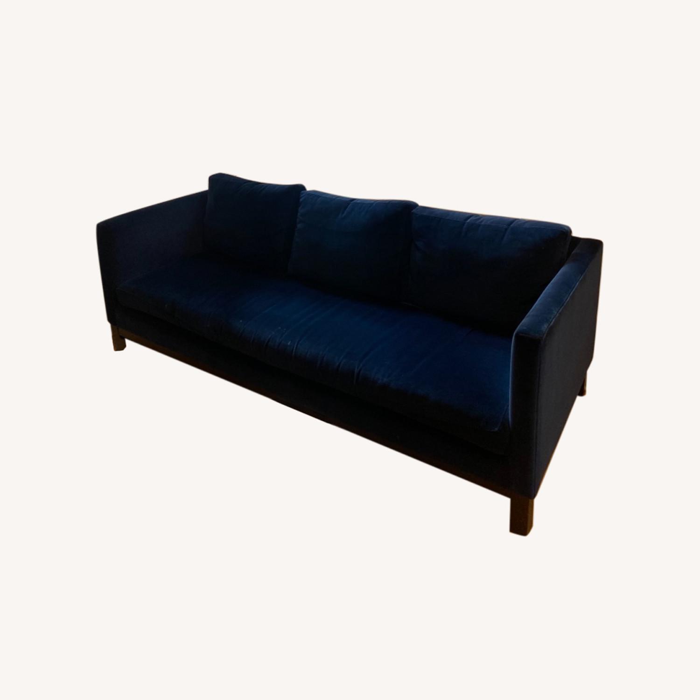 ABC Carpet and Home Blue Velvet Sofa - image-0