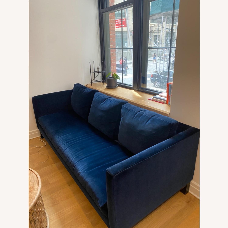 ABC Carpet and Home Blue Velvet Sofa - image-1