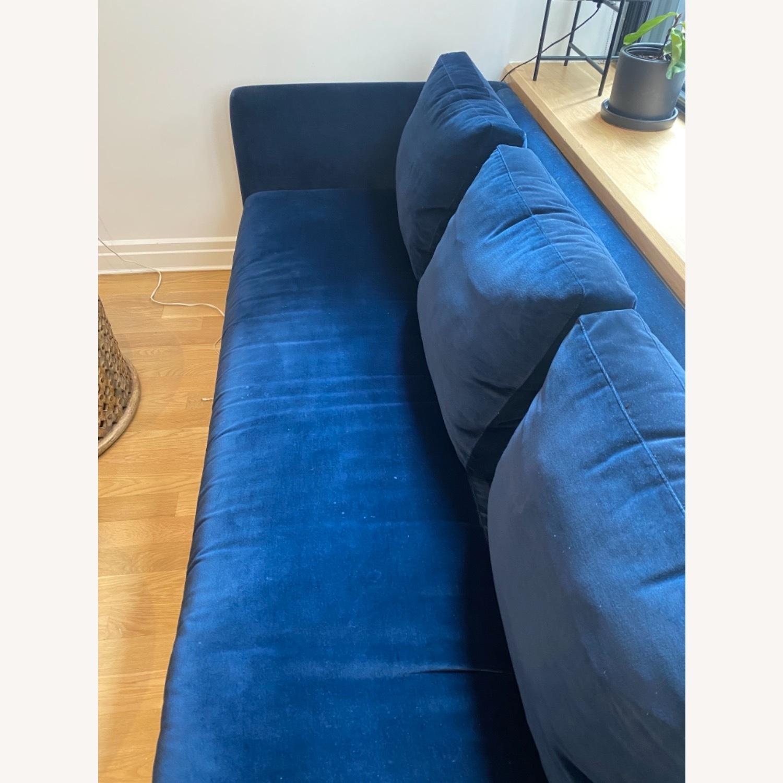 ABC Carpet and Home Blue Velvet Sofa - image-4