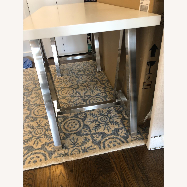 PB Teen White and Metal Desk - image-2