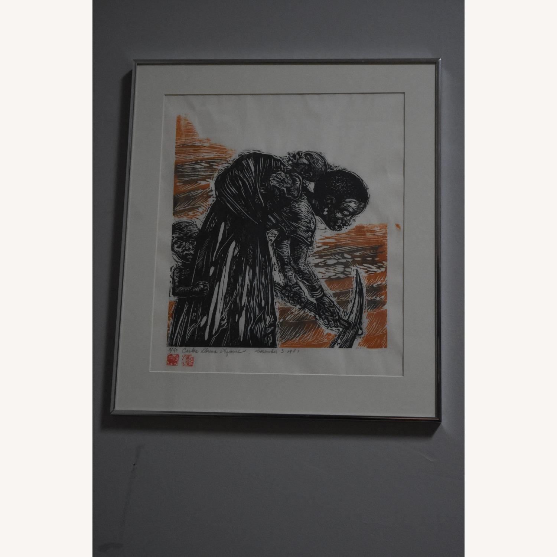 Carlos Llerena Aguirre - Woodcut #3/40 Wall Art - image-1