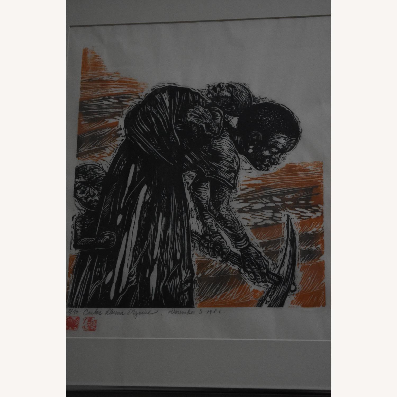 Carlos Llerena Aguirre - Woodcut #3/40 Wall Art - image-2