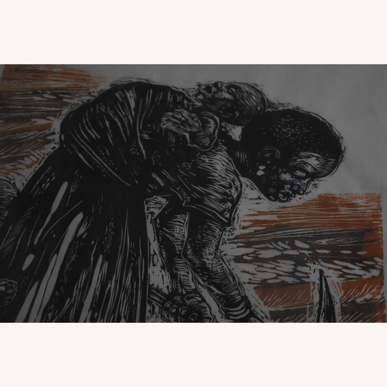 Carlos Llerena Aguirre - Woodcut #3/40 Wall Art - image-3