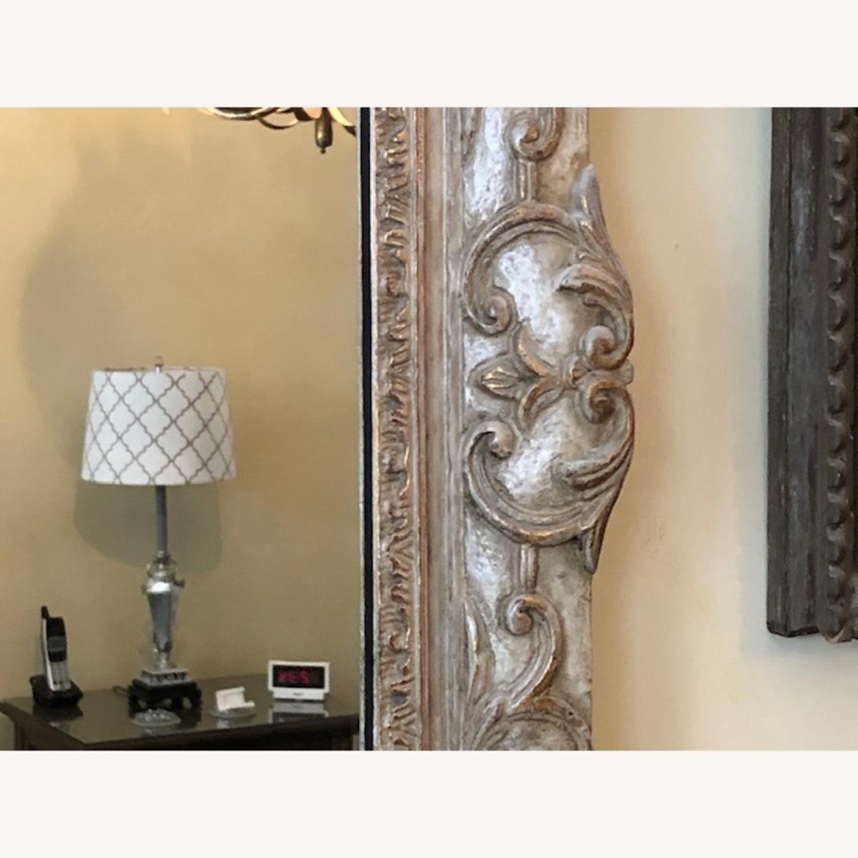 Antique Mirror Hand Carved Wood Frame - image-3