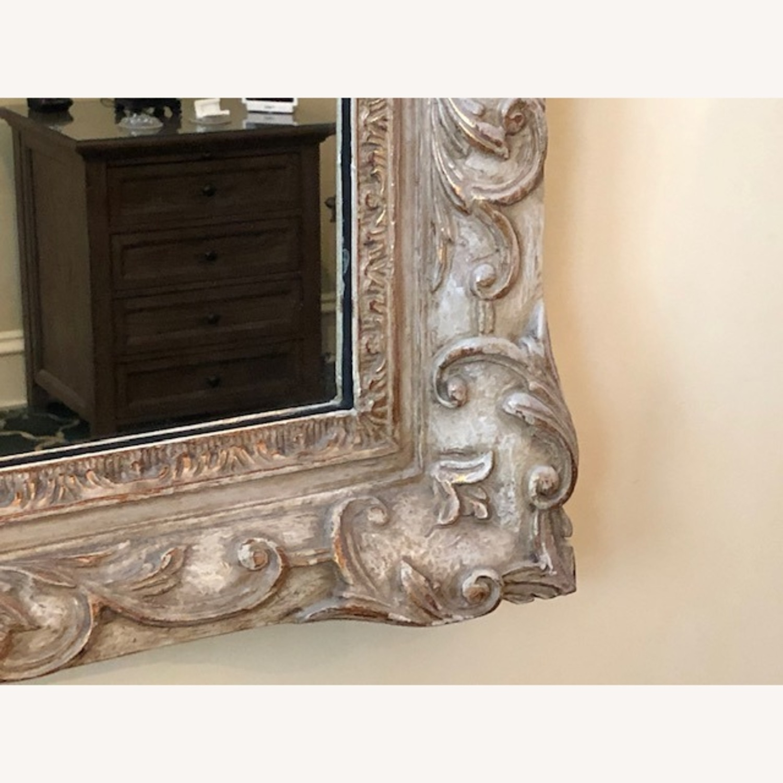 Antique Mirror Hand Carved Wood Frame - image-2