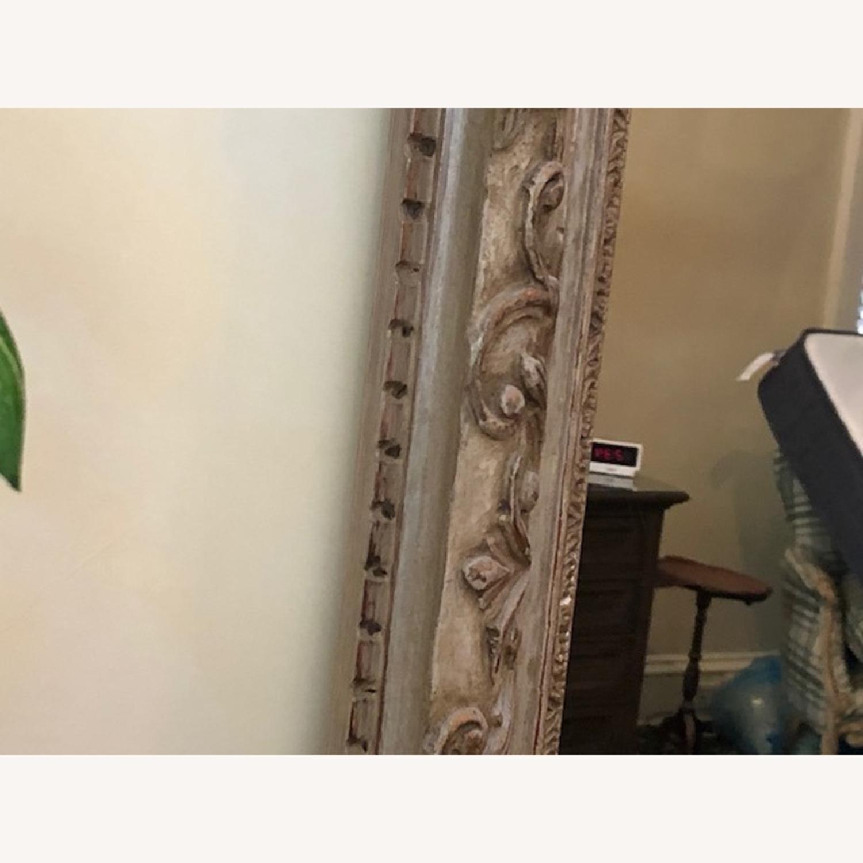 Antique Mirror Hand Carved Wood Frame - image-5
