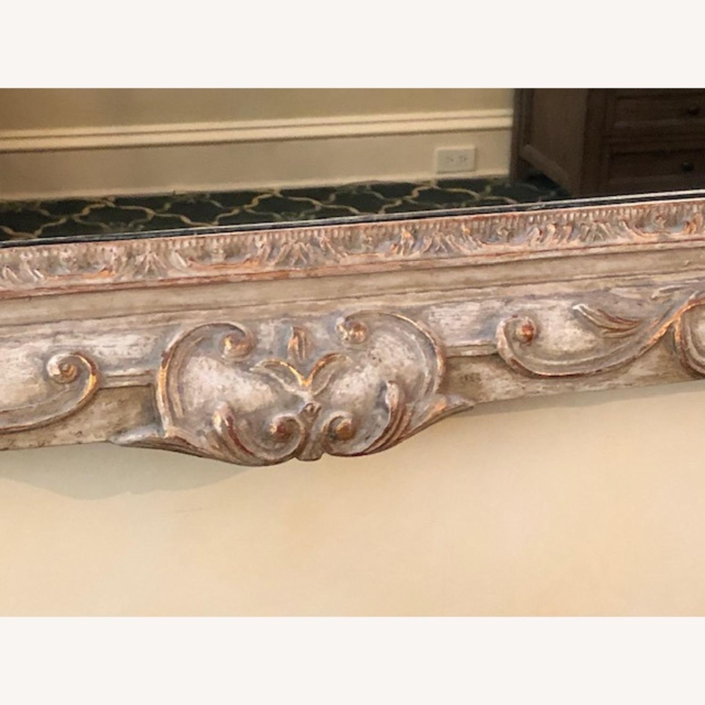 Antique Mirror Hand Carved Wood Frame - image-4
