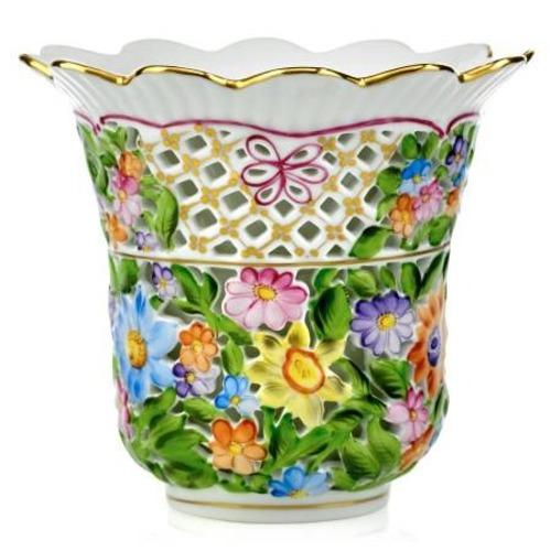 Used Herend Openwork Double Wall Vase for sale on AptDeco