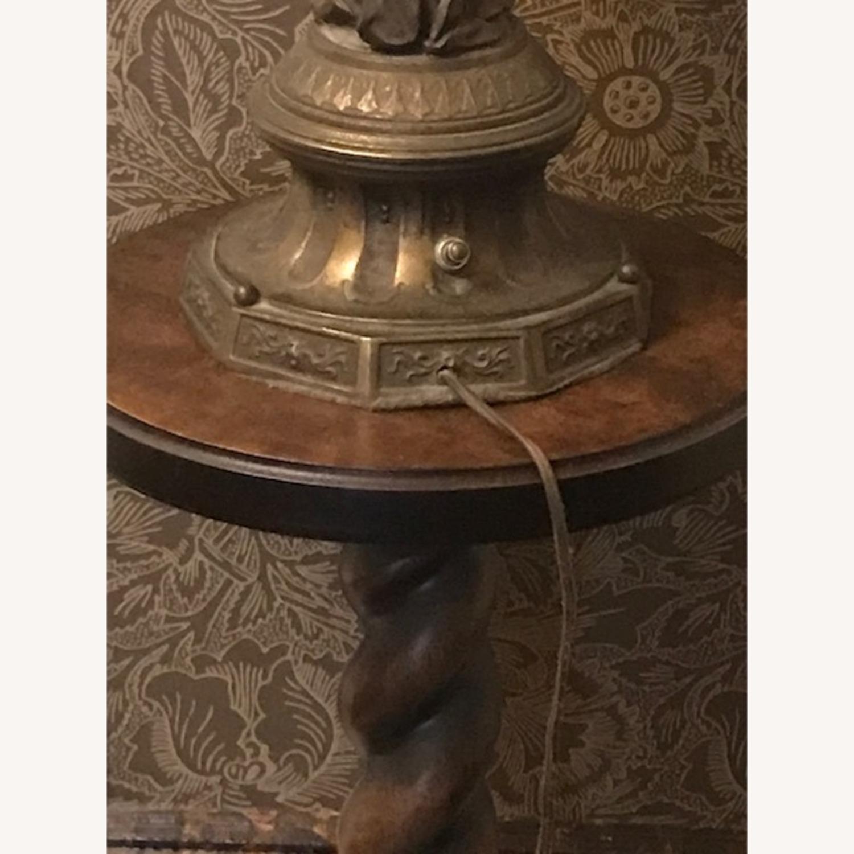 Antique Bronze Patina Figural Statue Light / Lamp - image-4