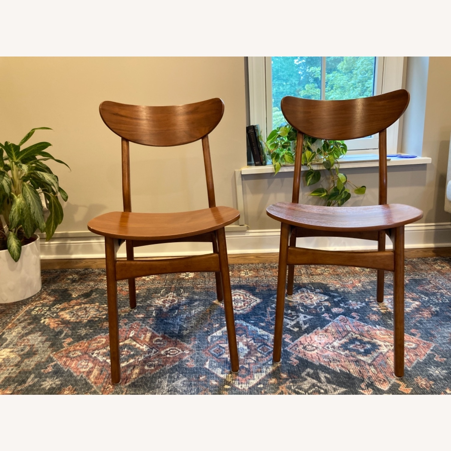 West Elm Walnut Dining Chairs - image-1