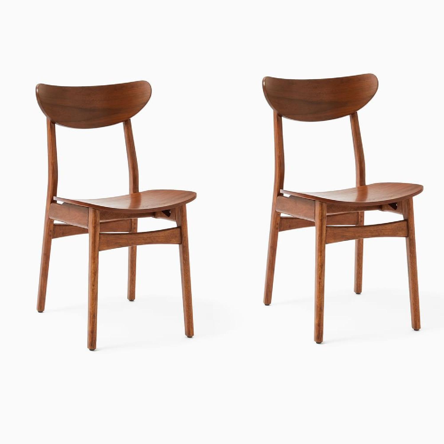 West Elm Walnut Dining Chairs - image-5