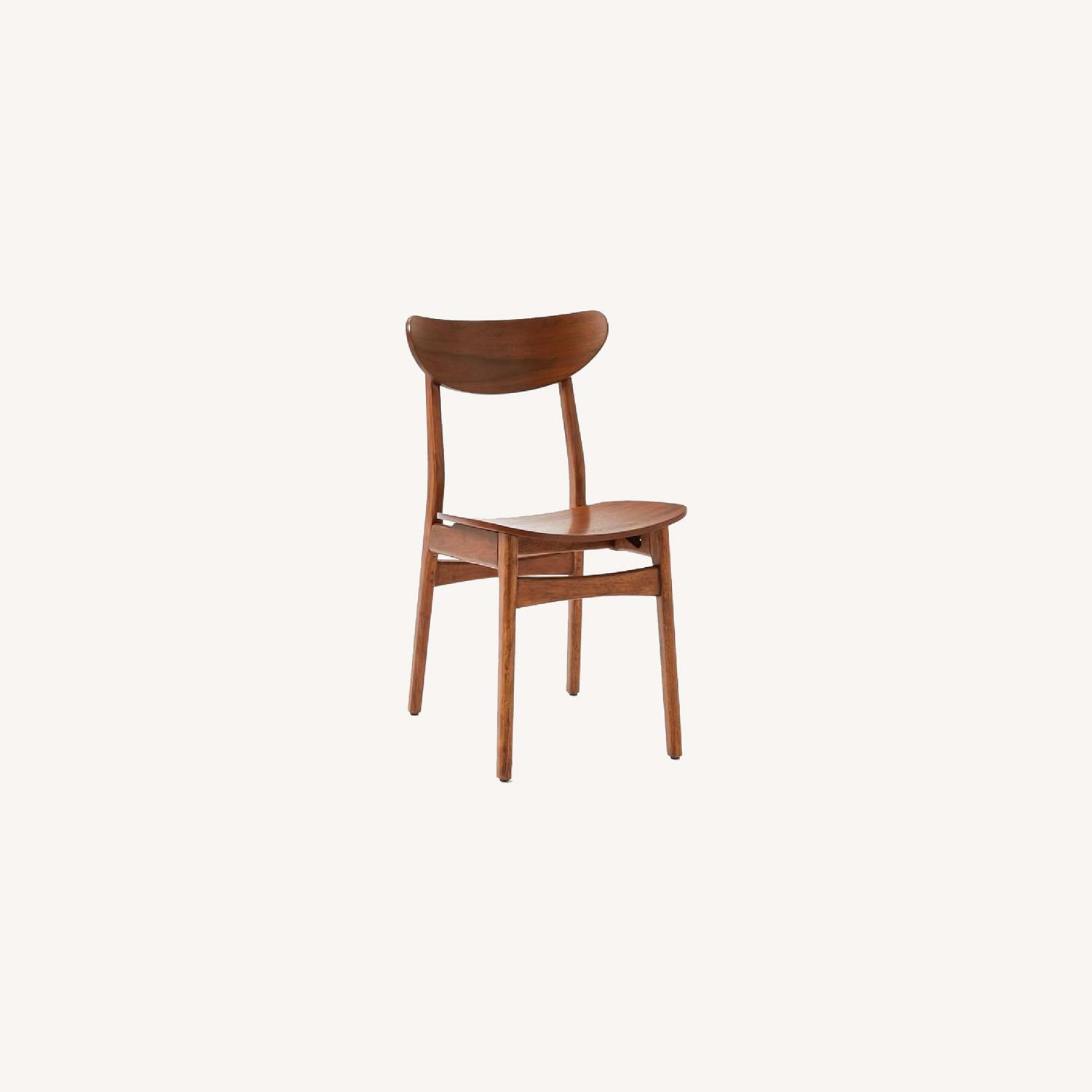 West Elm Walnut Dining Chairs - image-0