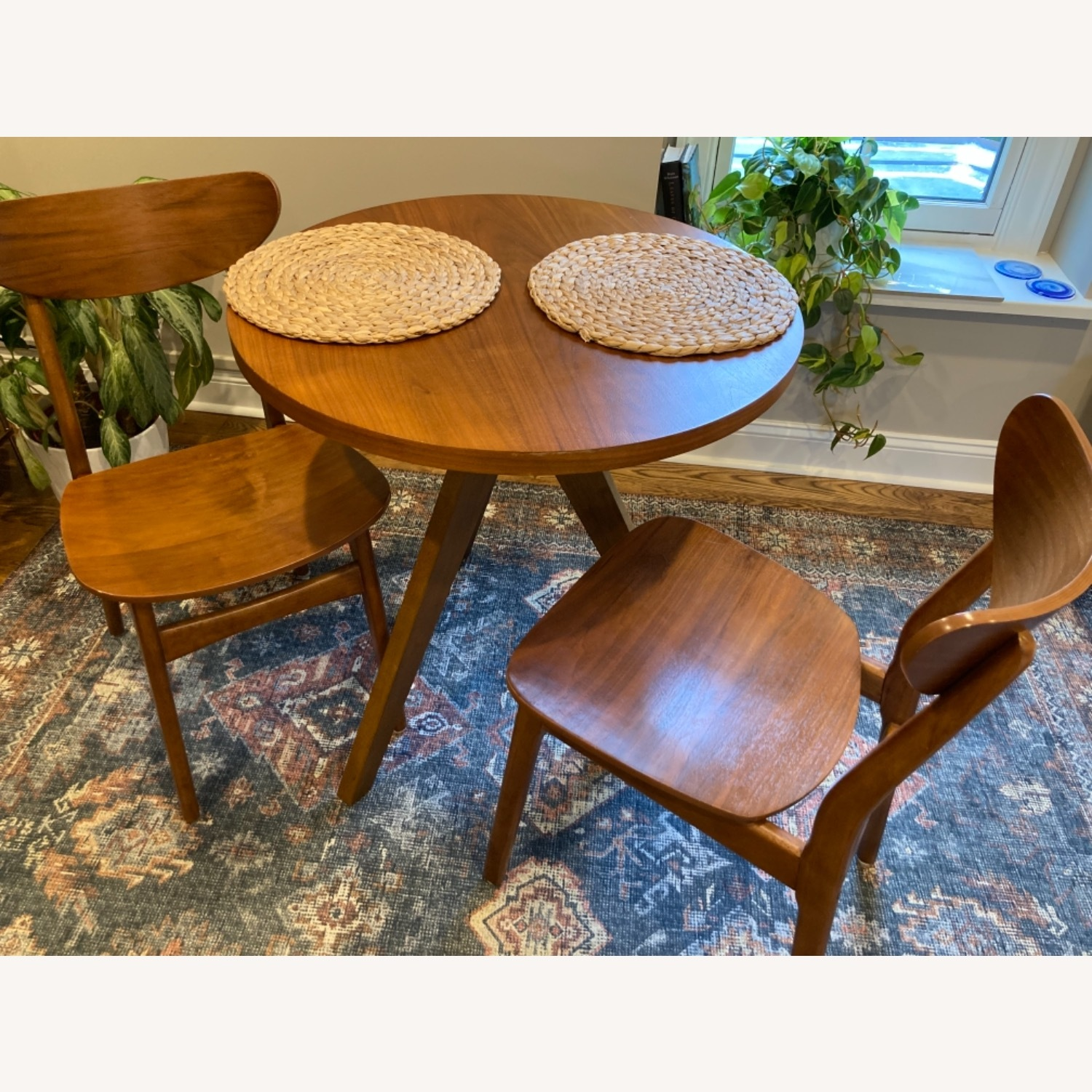 West Elm Walnut Dining Chairs - image-4