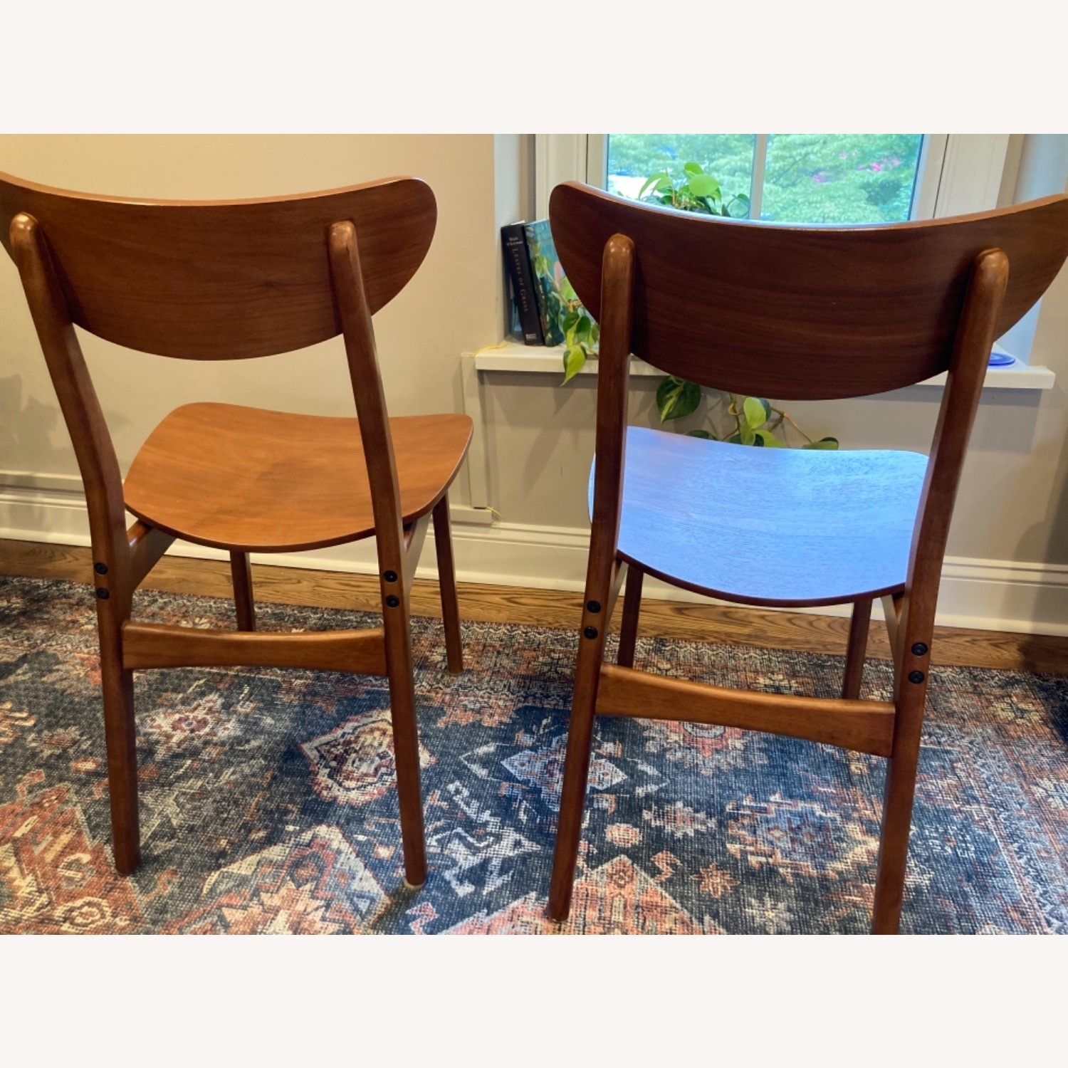West Elm Walnut Dining Chairs - image-3