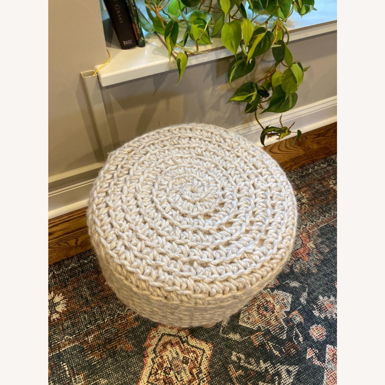 Lulu & Georgia Wool Ottoman - image-1