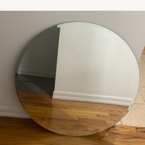 Used Home depot Frameless Round Mirror 29.5 for sale on AptDeco