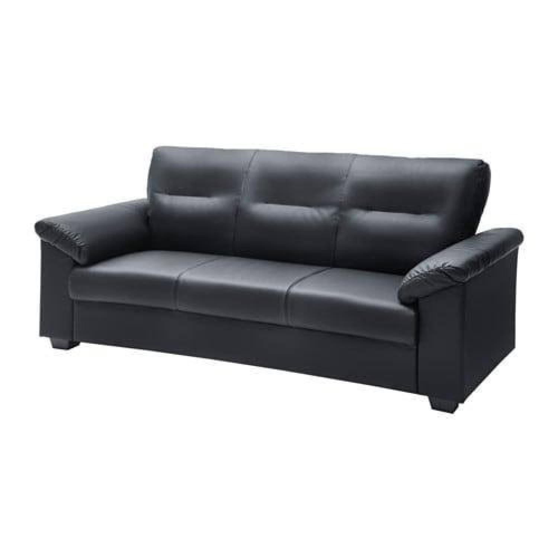 IKEA Black Sofa - image-5