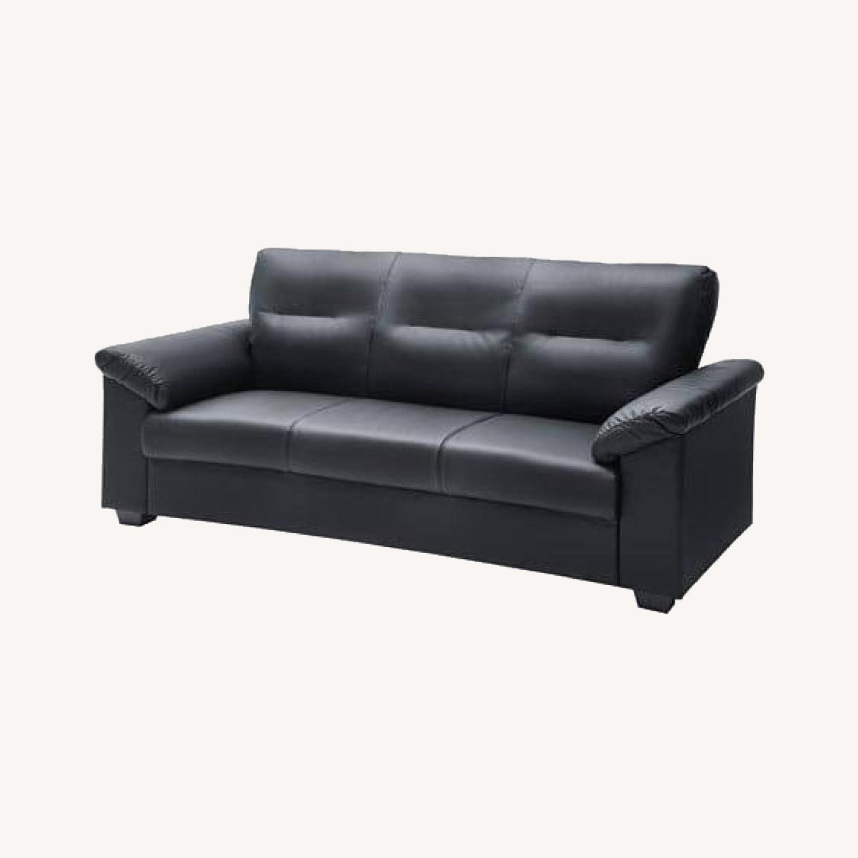 IKEA Black Sofa - image-0