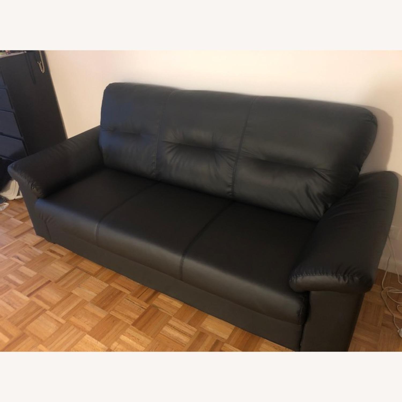 IKEA Black Sofa - image-2