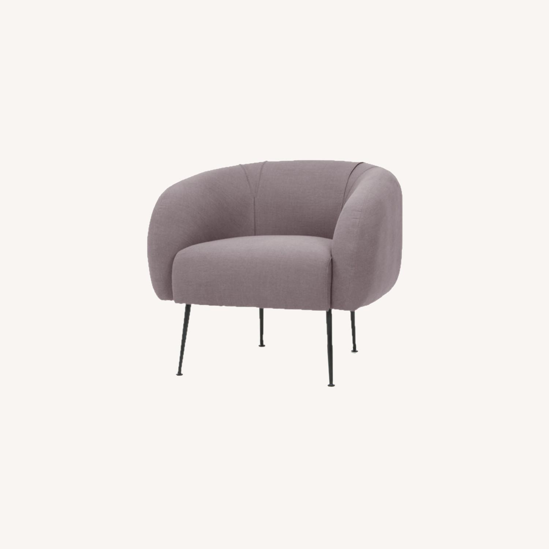 Lavender Mid Century Barrel Chairs - image-0