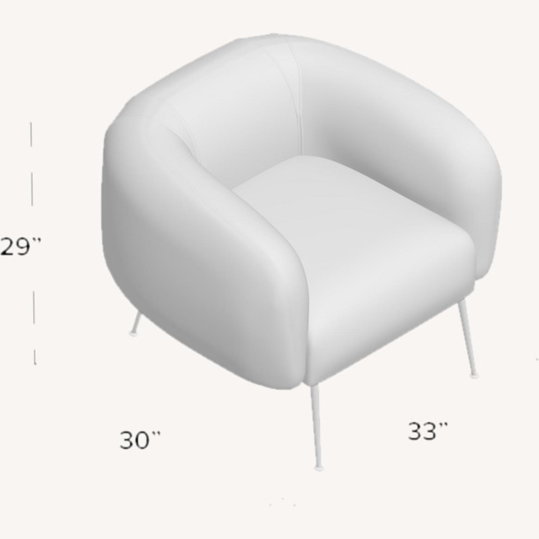 Lavender Mid Century Barrel Chairs - image-3