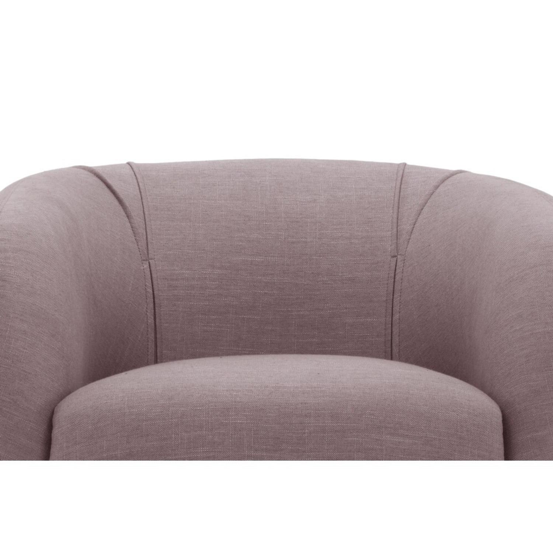 Lavender Mid Century Barrel Chairs - image-1