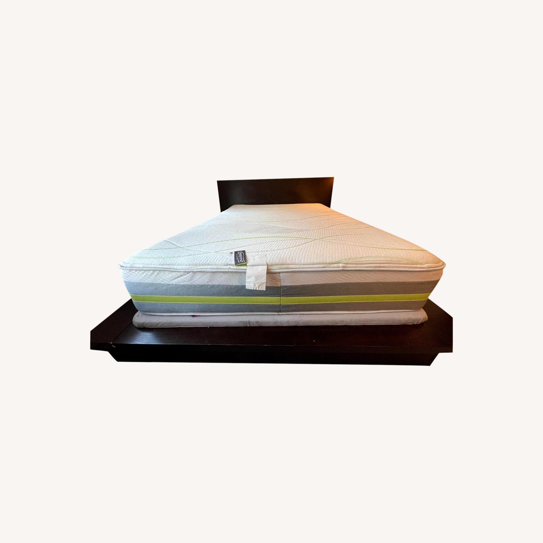 Queen Platform Bed - Solid Brown Wood - image-0